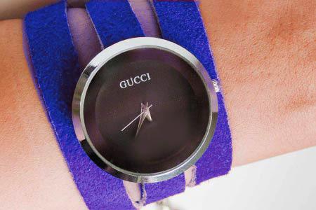 ساعت مچی گوچی طرح آبی