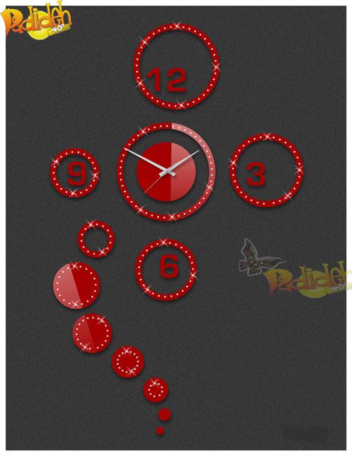 پانا ساعت دیواری مدرن  فانتزی قرمز انواع رنگ قرمز شیک طرح ساعت دکوراتیو دایره فروشگاه اینترنتی اورجینال مدل مدرن