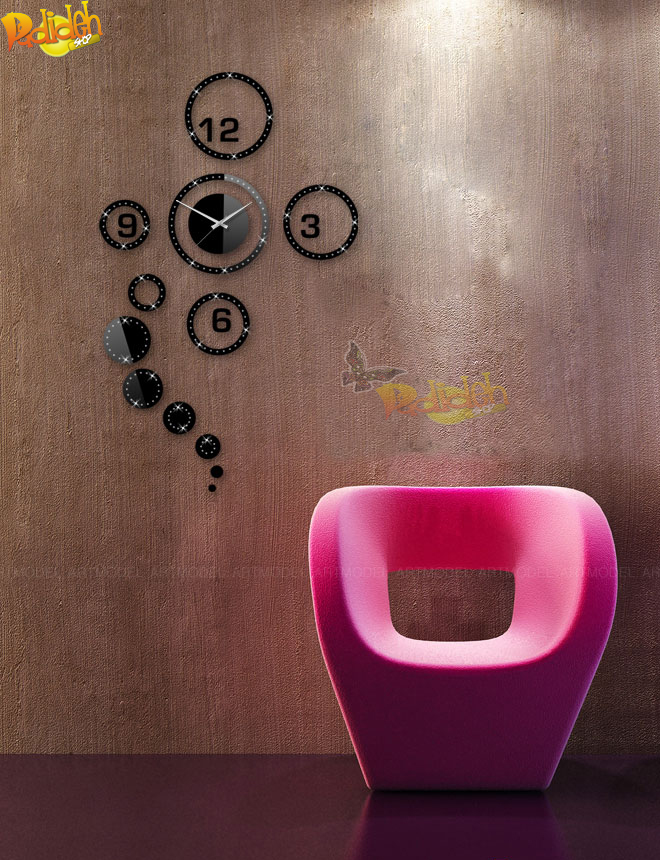 ساعت دیواری مدل مبل صورتی ساعت دیواری اتاق کودک نوزاد فروشگاه ساعتهای دیواری