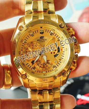 ساعت کاسیو رنگ طلایی مدل ef-550