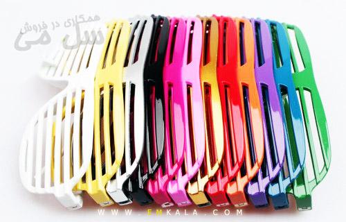 عینک بدون شیشه کرکره ای در رنگهای مختلف