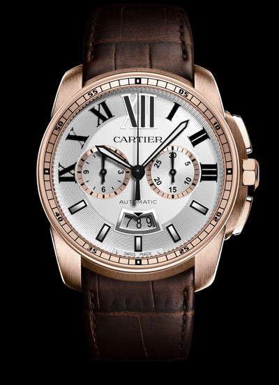 ساعت بند چرمی طرح Cartier