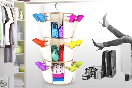 خرید پستی  جا کیف کفش گرد smart carousel