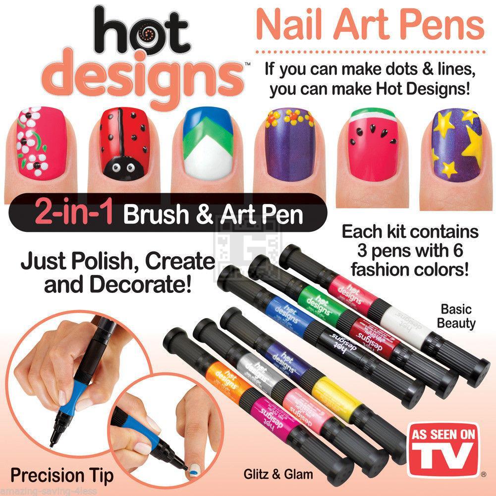 خرید پستی  لاک طراحی ناخن HOT DESIGNS