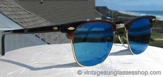 عینک کلاب مستر ریبن شیشه آبی با قيمت استثنايی
