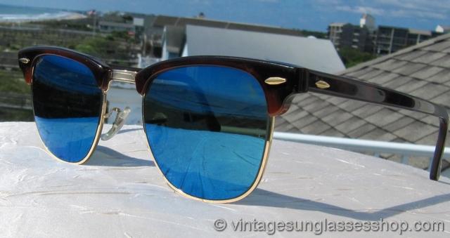 عینک ری بن کلاپ مستر شیشه آبی