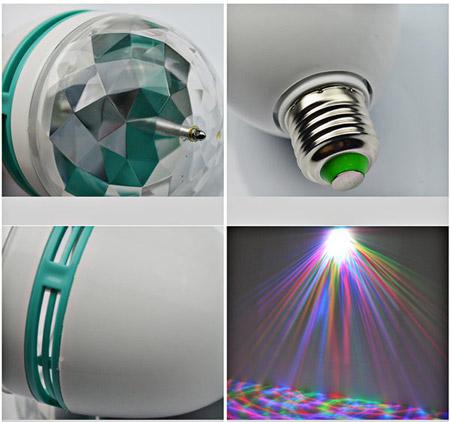 خرید پستی  لامپ رقص نور LED