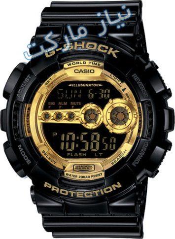 ساعت جي شاك كاسيو casio g-shock GD-100GB تك زمانه اصل