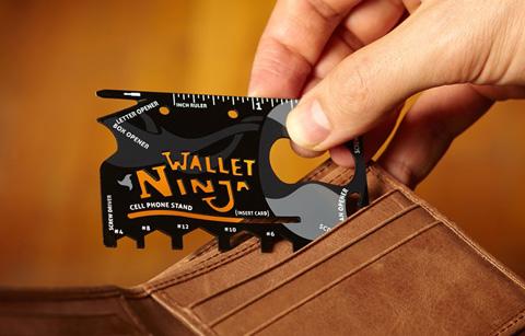 خرید پستی  کارد کارتی +آچار نينجا والت