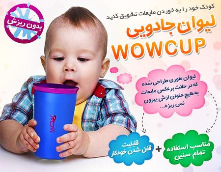 خرید پستی  لیوان جادویی Wow Cup