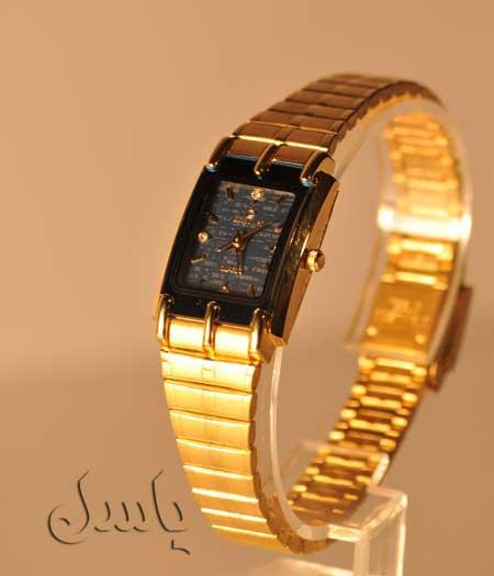 ساعت مچی طلایی رنگ زنانه مارک ام پاور-EMPOWER