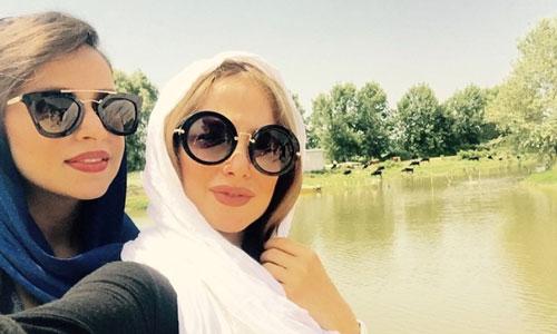 الناز-حبیبی-با-عینک-میومیو-گرد