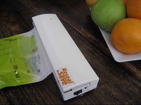 دستگاه پلمپ کیسه فریزر بزرگ Reseal Save