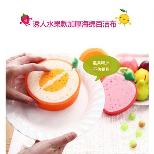 اسفنج ظرفشویی فانتزی با طرح میوه 2عددی