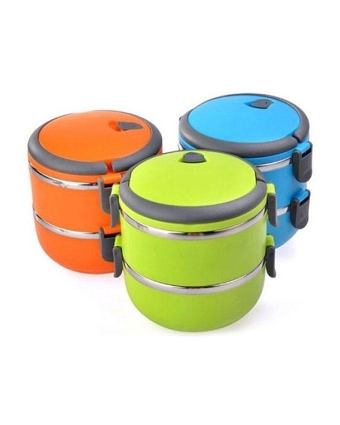 خرید پستی  ظرف غذای دو طبقه Lunch box easy lock