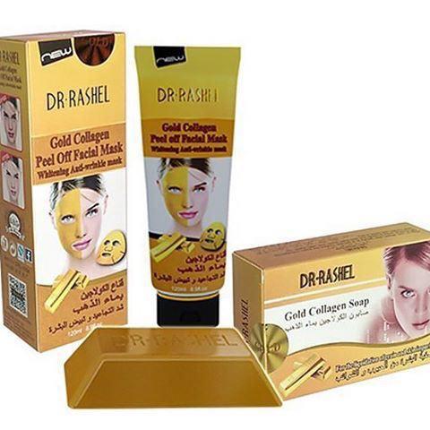 خرید ماسک طلا کلاژن دکتر راشل + صابون | گلد ماسک
