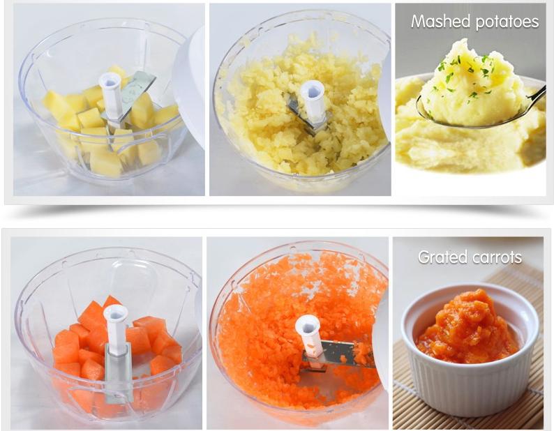 عکس محصول غذاساز مینی کاتر با دسته کششی Mini cutter food processor with traction handle