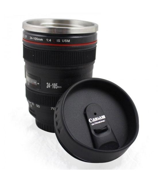 mug lens 3 لیوان با طرح لنز دوربین ( بدون همزن )