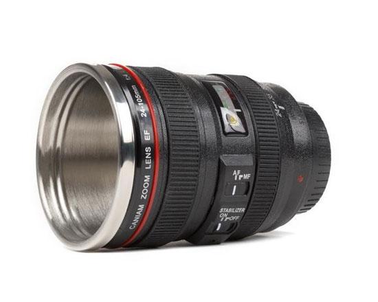 mug lens 2 لیوان با طرح لنز دوربین ( بدون همزن )