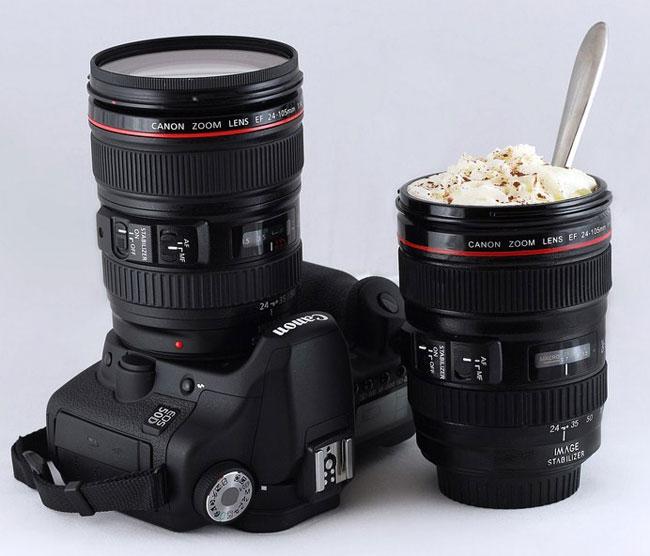 mug lens لیوان با طرح لنز دوربین ( بدون همزن )