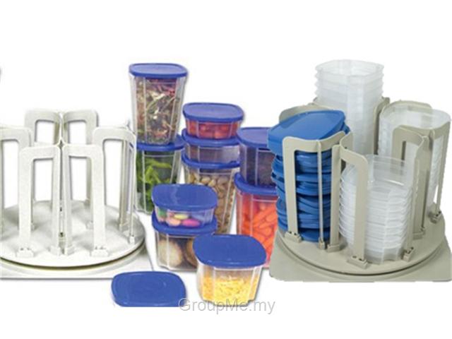 ست استند و ظروف پلاستیکی