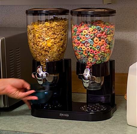 جای حبوبات دوقلوی شیردار با حجم هر مخزن تا 1 کیلوگرم