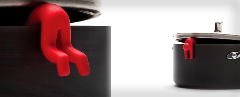 خرید پستی  نگهدارنده درب قابلمه طرح آدمک 4عددی