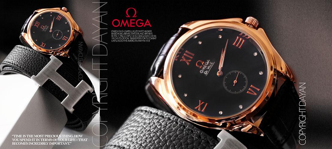 ساعت مچی omega  زیر ثانیه