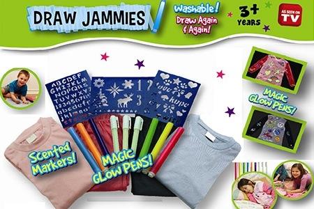 خرید پستی  پکیج نقاشی روی لباس Draw jammies