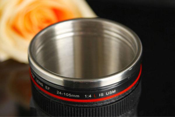 lens travel mug 6 لیوان همزن با طرح لنز دوربین