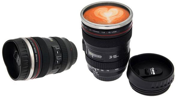 lens travel mug 10 لیوان همزن با طرح لنز دوربین