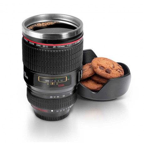 lens travel mug 1 لیوان همزن با طرح لنز دوربین