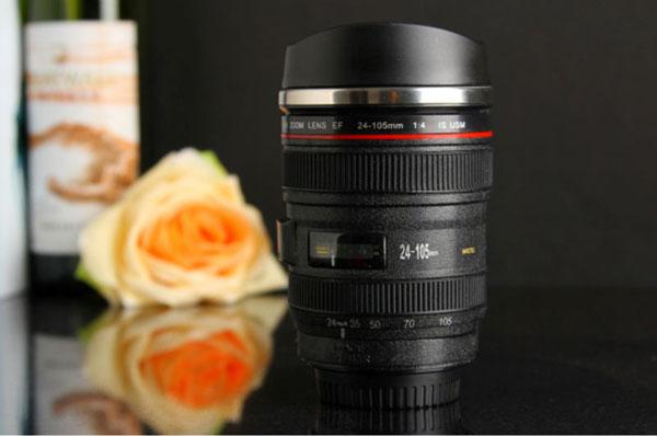 lens travel mug 8 لیوان همزن با طرح لنز دوربین