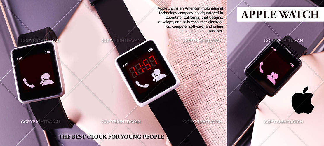 ساعت LED طرح Apple