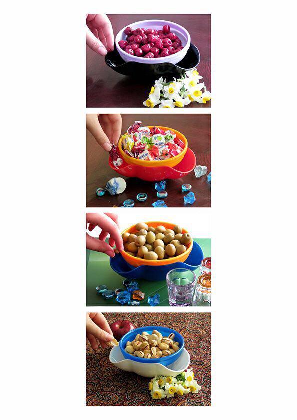 خرید پستی  پیاله های تنقلات 4 تایی رولو