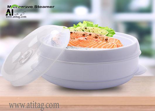 ظرف بخارپز ماکروویو Microwave steamer