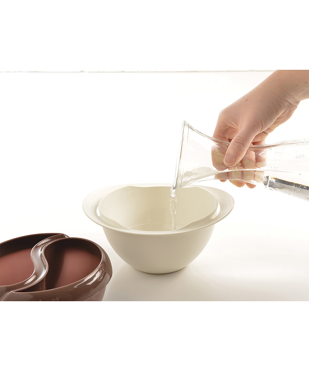 خرید ارزان ظرف آب کردن شکلات با قاشق در ماکرو ویوو