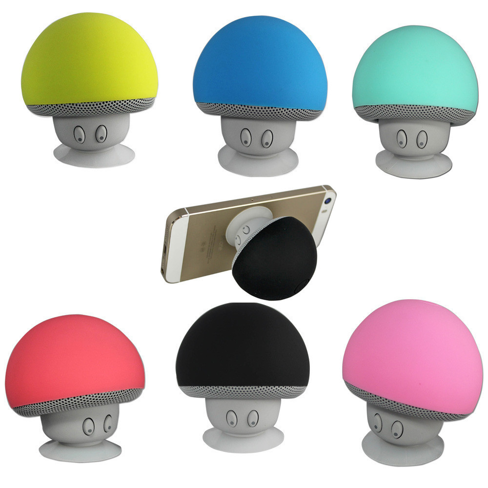 Mini-Mushroom-Bluetooth-Speaker-with-Suction-Holder-Microphone-Portable-Splash-Proof-Mushroom-Wireless-Speaker-with-Stand