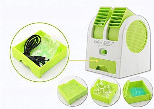 mini fan air conditioner 1 مینی کولر رومیزی USB