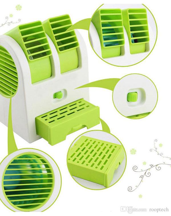 mini fan air conditioner 7 1 مینی کولر رومیزی USB