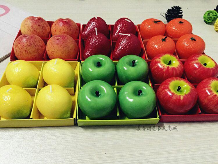 شمع های میوه ای 4عددی