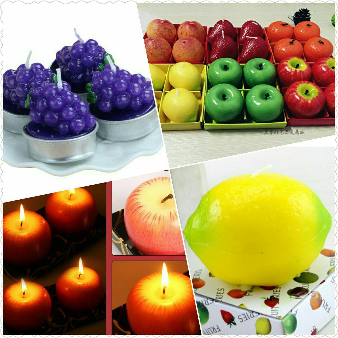 خرید شمع فانتزی شیک میوه ای 4 عددی با پارافین درجه 1