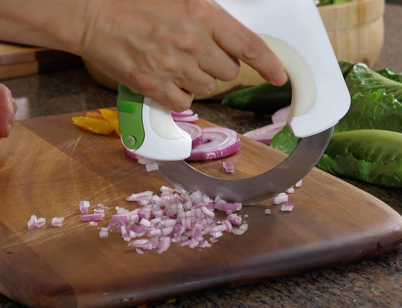 چاقوی گرد دایره ای برای برش سریع و آسان سبزیجات ، گوشت ، کیک