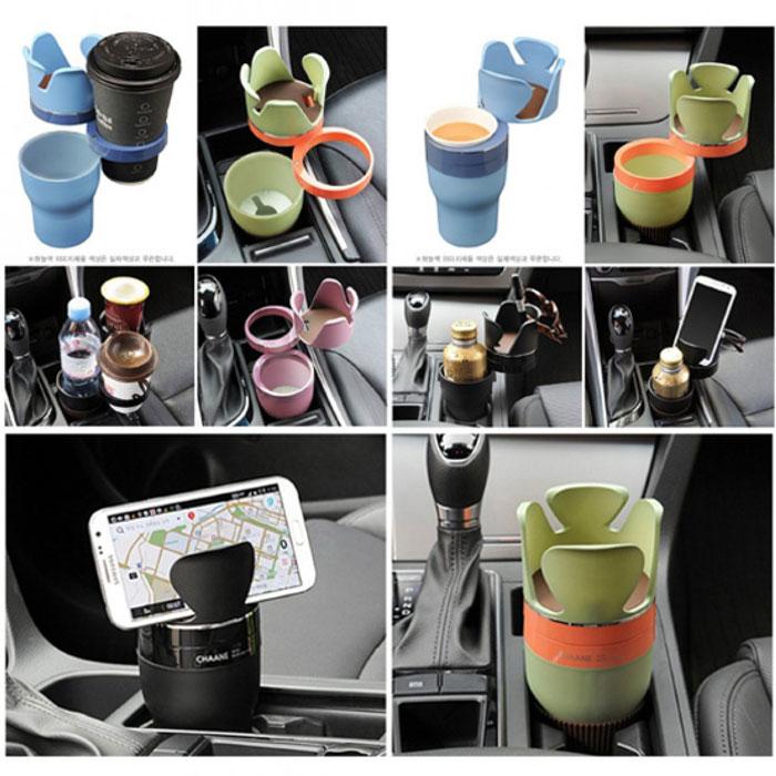 5 in 1 car cup holder 2 هولدر 5 کاره خودرو طرح لیوان