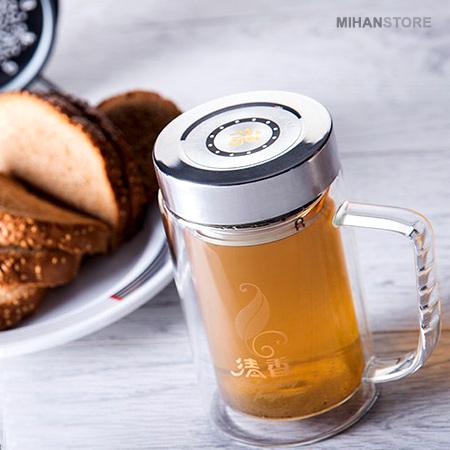 خرید پستی  Mugestan لیوان دمنوش دوجداره(دسته دار)