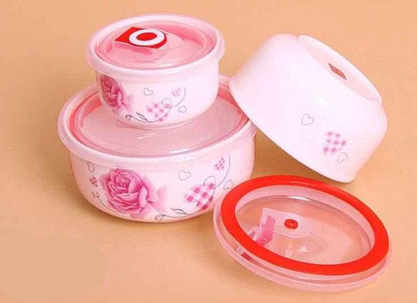 ceramic 3 pcs 8 ست ظروف سه تکه سرامیکی گلدار
