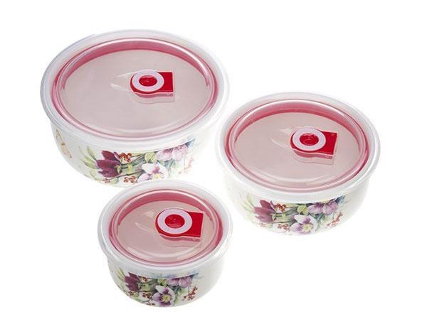 ceramic 3 pcs 2 ست ظروف سه تکه سرامیکی گلدار
