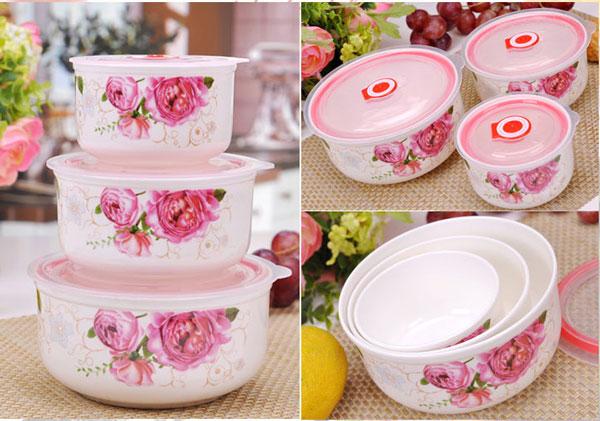 ceramic 3 pcs 5 ست ظروف سه تکه سرامیکی گلدار