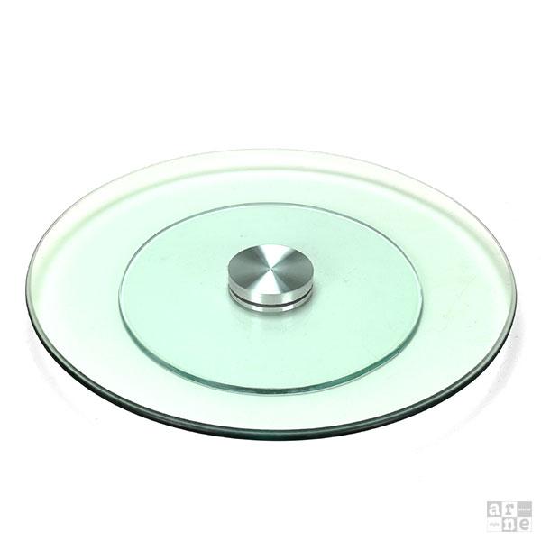 خرید سینی با کلاس شیشه ای شفاف دوار طرح کرد 2020