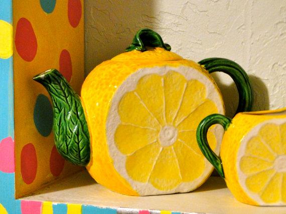 قوری سرامیکی طرح لیمو